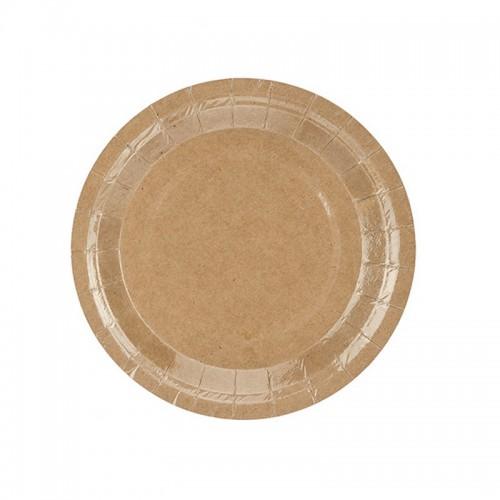 TALERZYKI papierowedo wiejskiego stołu 18cm 6szt KRAFT