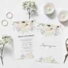 ZAPROSZENIE ślubne dwustronne Z IMIONAMI Świeżość Kwiatów