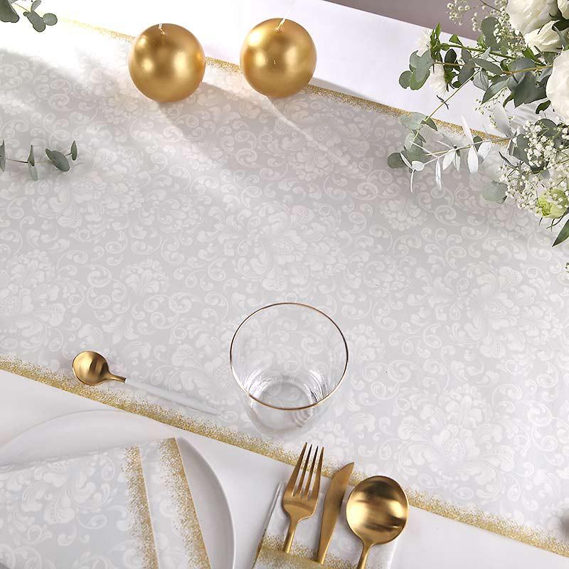 BIEŻNIK flizelinowy Srebrno-Złoty 40cmx24m