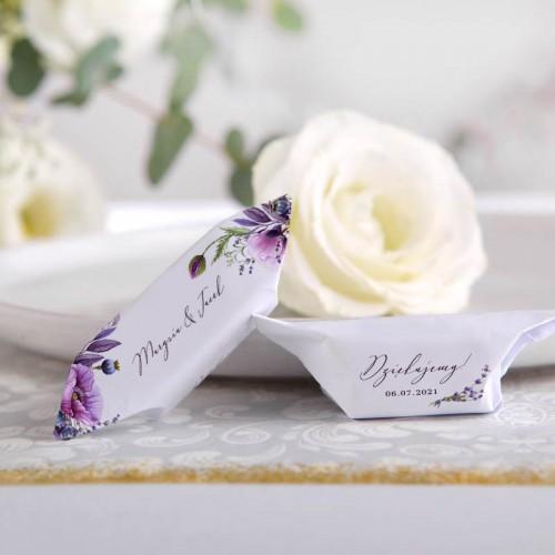 KRÓWKI podziękowanie dla gości na Ślub Kolekcja Lawendowa Z IMIONAMI 20szt