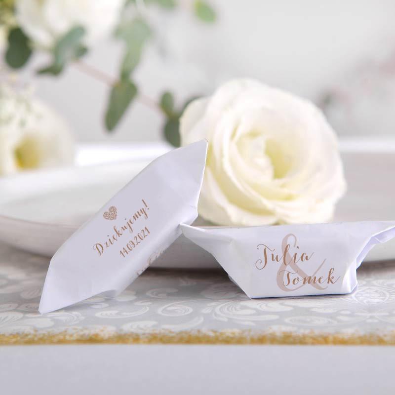 KRÓWKI podziękowanie dla gości na Ślub Czekoladowe LOVE Z IMIONAMI 20szt