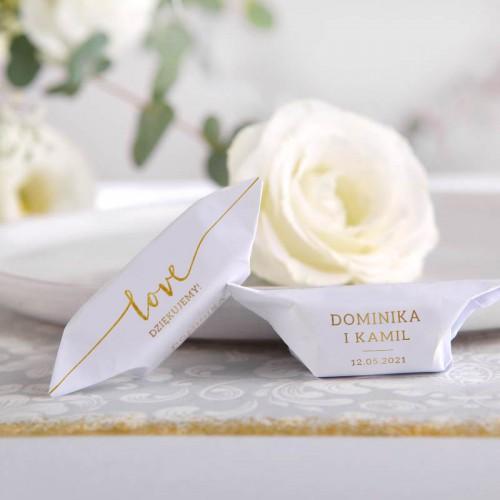 KRÓWKI podziękowanie dla gości na Ślub Love Z IMIONAMI 20szt