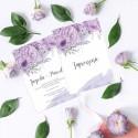 ZAPROSZENIE ślubne dwustronne Z IMIONAMI Lilac Grey