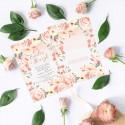 ZAPROSZENIE ślubne dwustronne Z IMIONAMI Bukiet Róż