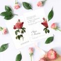 ZAPROSZENIE ślubne dwustronne Z IMIONAMI Róża Vintage