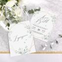 ZAPROSZENIE ślubne dwustronne Z IMIONAMI Srebrno-Złoty Ślub