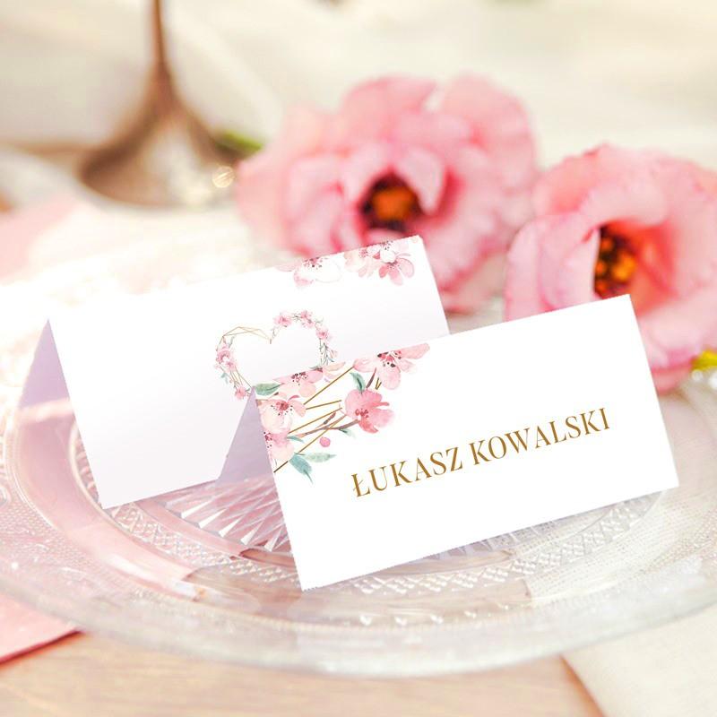 WINIETKA ślubna z nadrukiem Kwiatowe Serce