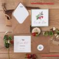 SAVE THE DATE Strawberry (+koperta z wnętrzem+naklejka)
