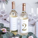 NAKLEJKI na alkohol dwustronne numerki na stoliki 30szt