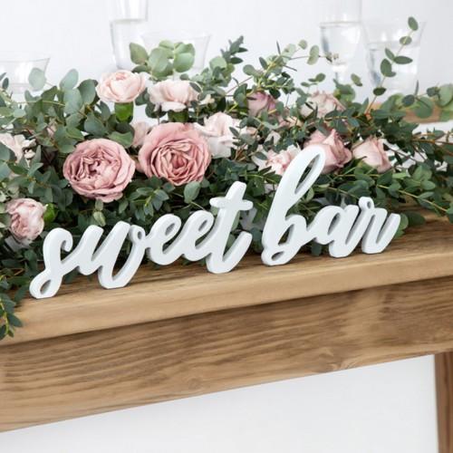 NAPIS drewniany do słodkiego stołu Sweet Bar
