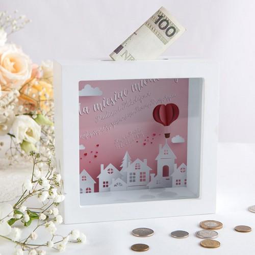 SKARBONKA na prezent dla Pary Młodej Z IMIONAMI Na miesiąc miodowy