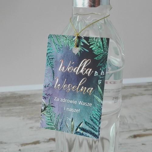 ZAWIESZKI na wódkę Botanica Dark 10szt ZŁOTE LITERY