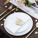 WINIETKI ślubne drewniane Serca 10szt