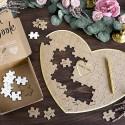 KSIĘGA gości weselnych puzzle układanka SERCE 45x35,5cm