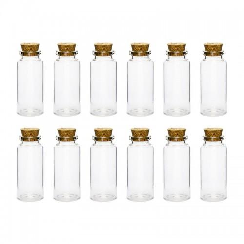 BUTELECZKI szklane z korkiem podziękowania dla gości 12szt