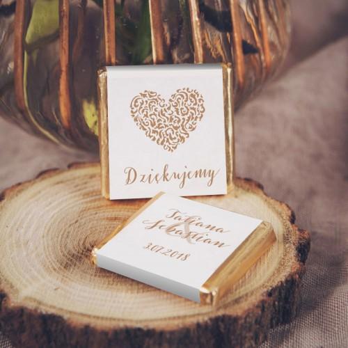 CZEKOLADKA ślubna Z IMIONAMI Czekoladowe LOVE