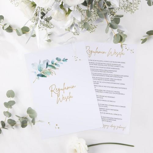 REGULAMIN wesela Gałązka Eukaliptusa