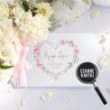 KSIĘGA GOŚCI czarne kartki fotobudka Z IMIONAMI Kwiatowe Serce
