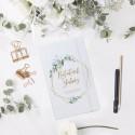 NOTATNIK ślubny Z IMIENIEM Gałązka Eukaliptusa 80 kartek w kratkę