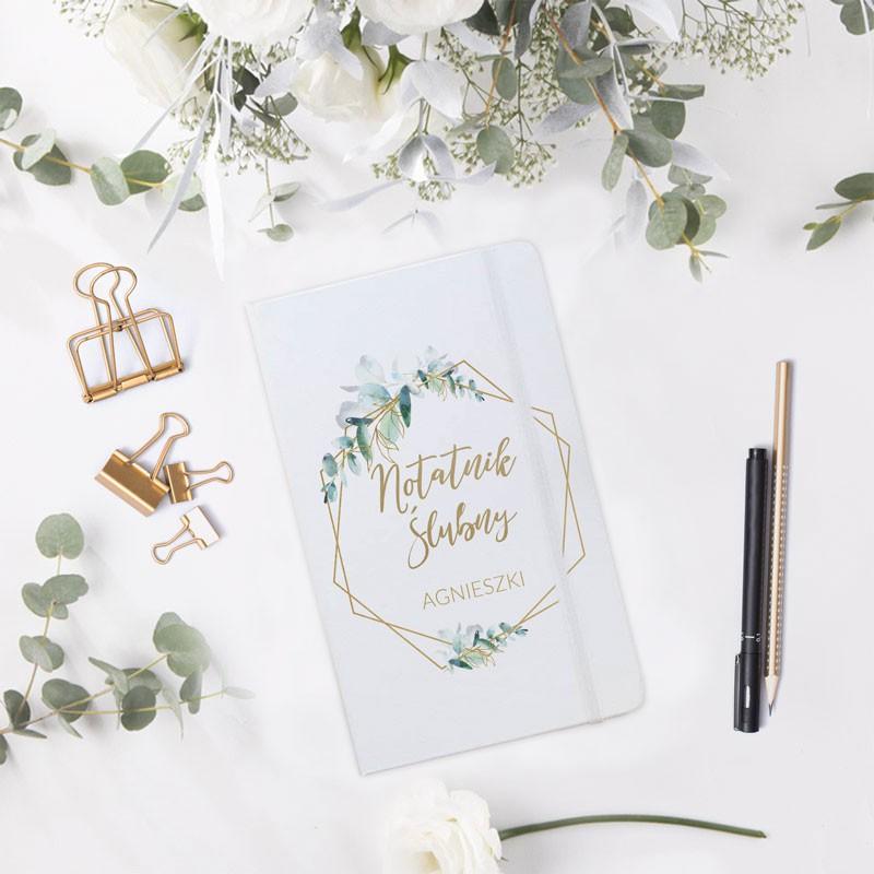 Notatnik ślubny w botanicznym stylu