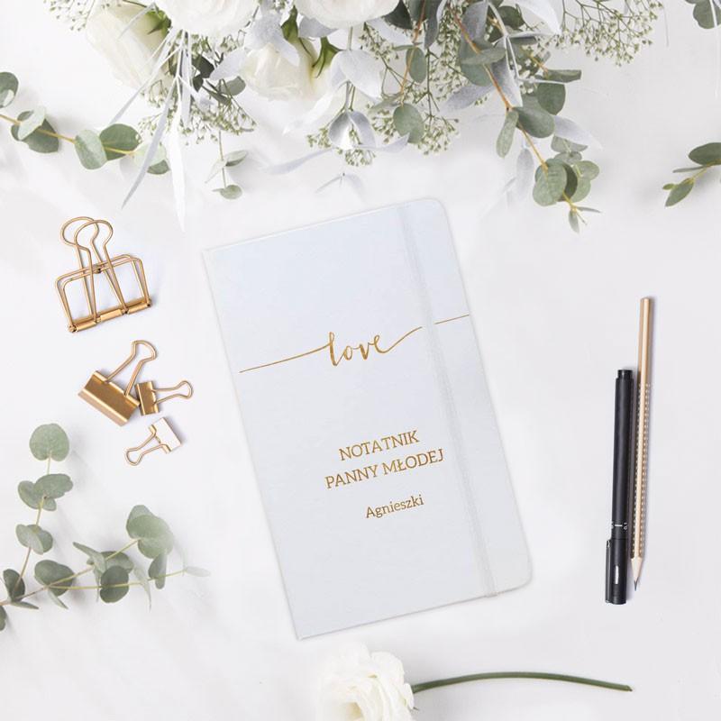 NOTATNIK ślubny Z IMIENIEM Love 80 kartek w kratkę