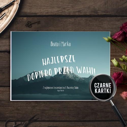 PREZENT na Rocznicę Ślubu Album czarne kartki Z Imionami PODRÓŻ