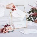 PUDEŁKO na koperty szklane złote ranty 13x21x21cm