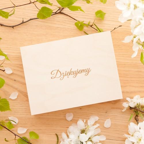 PODZIĘKOWANIE dla Świadkowej w drewnianym pudełku Kwiaty Boho