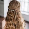 OPASKA ślubna do włosów grzebyk Ann