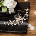 GRZEBYK ślubny do włosów Pearls