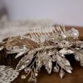 GRZEBYK ślubny do włosów Kryształowy