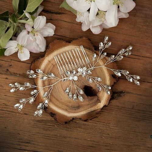 GRZEBYK ślubny do włosów Silver (12)