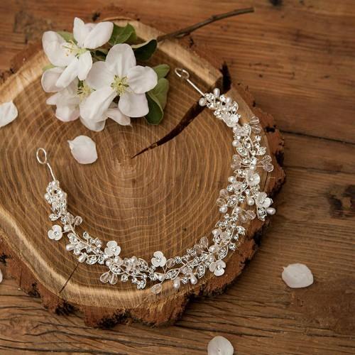 OPASKA ślubna do włosów Cristal Pearls (1)