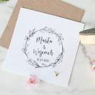 PIECZĄTKA ślubna Z IMIONAMI Listki i Kwiaty
