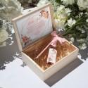 PROŚBA o bycie Świadkową wino musujące w skrzyni Rosegold Flowers