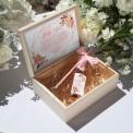 PROŚBA o bycie Świadkową szampan w skrzyni Rosegold Flowers