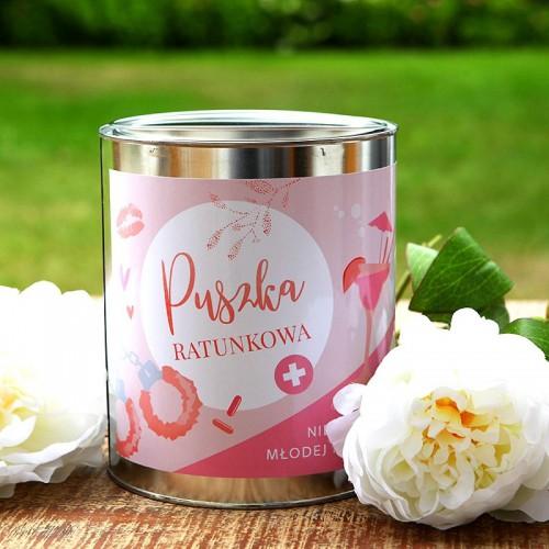 PUSZKA RATUNKOWA prezent dla Panny Młodej Jasnoróżowa HIT!