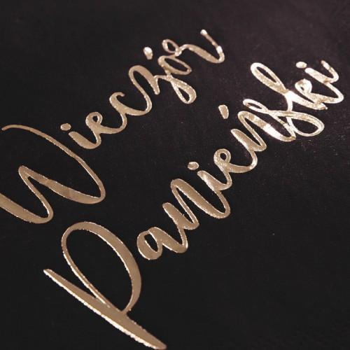SERWETKI Wieczór Panieński ze złotym napisem 33x33cm 20szt Czarne