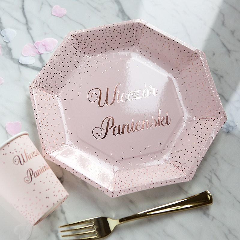 papierowe talerzyki i kubeczki na wieczór panieński