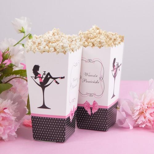 PUDEŁKA na popcorn/słodycze Wieczór Panieński groszki 10szt