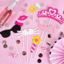 REKWIZYTY do fotek panieński Pink Princess 7 elementów!
