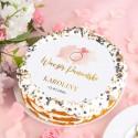 OPŁATEK personalizowany na tort Rosegold Ø20cm