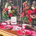 TABLICZKA Rezerwacja na stolik Kwiaty Boho (+ złota ramka)