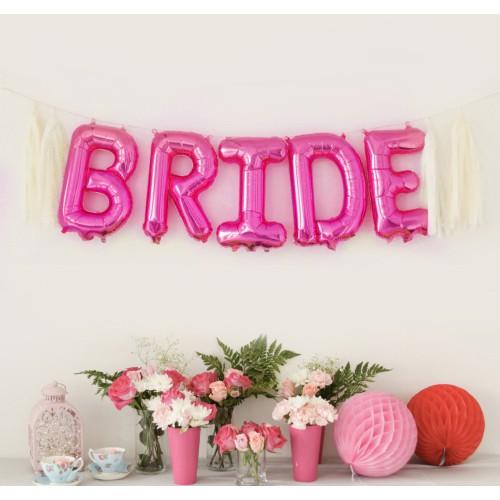 BALONY foliowe różowe BRIDE 35cm