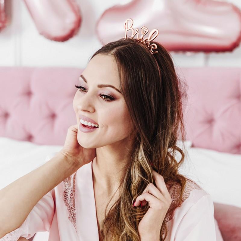 OPASKA na panieński Bride metallic ROSEGOLD różowe złoto HIT
