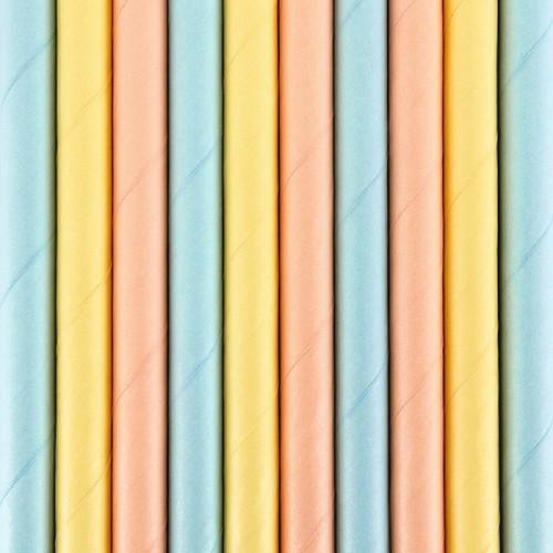 SŁOMKI papierowe Pastelowe 10szt MIX