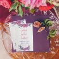 BILECIK personalizowany z nasionkami Kwiaty Boho