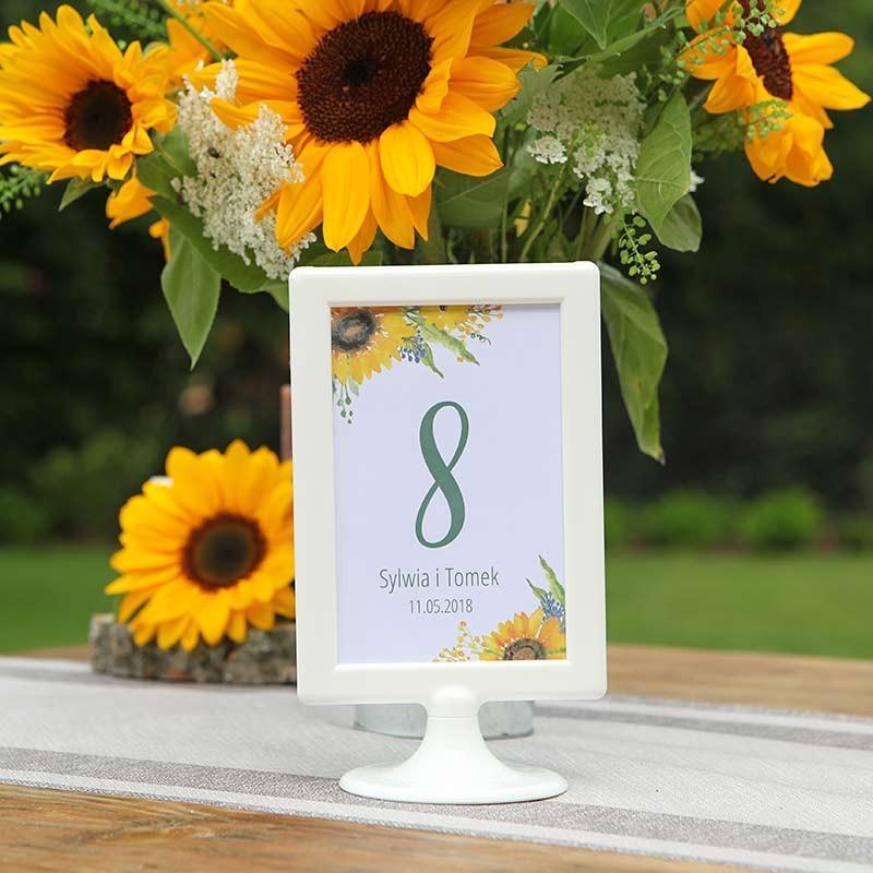 TABLICZKA na stolik z personalizacją Kolekcja Słoneczniki