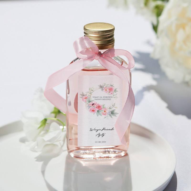 ETYKIETY personalizowane na mini wódkę Zapach Piwonii 16szt