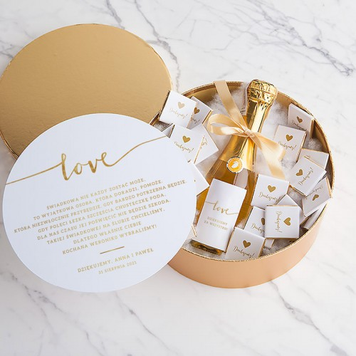 PREZENT dla Świadkowej LUX w pudełku SZAMPAN Love